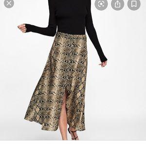 Zara snakeskin midi skirt